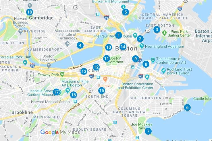 18 promenades à Boston