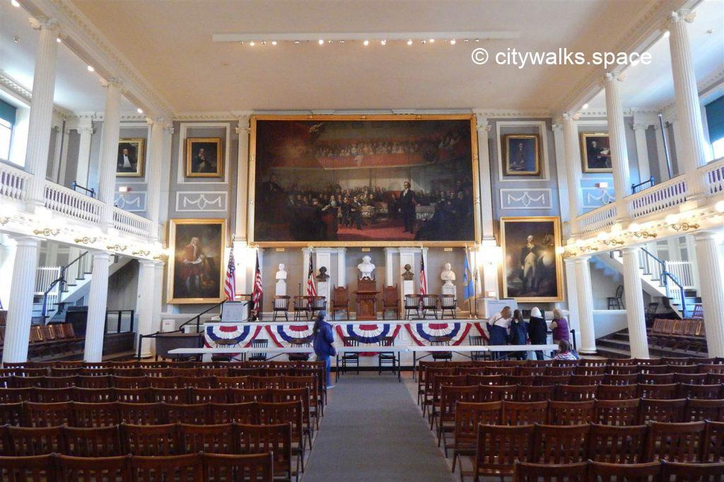 Great Hall, Faneuil Hall, Boston, MA